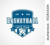 basketball emblem blue flat... | Shutterstock .eps vector #552814204