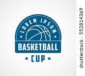 basketball cup emblem blue flat ... | Shutterstock .eps vector #552814369