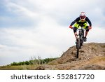 professional cyclist riding the ... | Shutterstock . vector #552817720