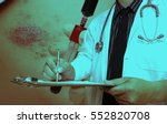male doctor standing with... | Shutterstock . vector #552820708