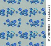 seamless pattern with blue...   Shutterstock . vector #552821119