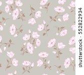 floral gentle pattern. flower... | Shutterstock .eps vector #552822934