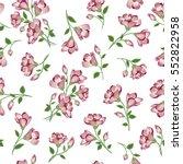 Stock vector floral pattern flower seamless background flourish ornamental spring garden texture 552822958
