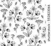 floral white pattern with... | Shutterstock .eps vector #552823066