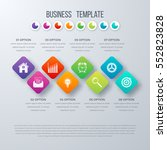 vector square infographics with ... | Shutterstock .eps vector #552823828