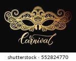 mardi gras carnival mask of... | Shutterstock .eps vector #552824770
