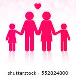 lovely family icon vector | Shutterstock .eps vector #552824800