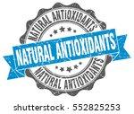 natural antioxidants. stamp.... | Shutterstock .eps vector #552825253