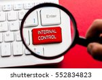 internal control word written... | Shutterstock . vector #552834823