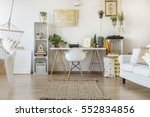 multifunctional loft apartment... | Shutterstock . vector #552834856