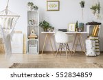 modern flat with minimalistic... | Shutterstock . vector #552834859