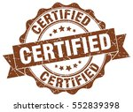 certified. stamp. sticker. seal.... | Shutterstock .eps vector #552839398