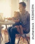 little girl spending time with... | Shutterstock . vector #552840394