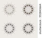 mandala set. monochrome... | Shutterstock .eps vector #552843664