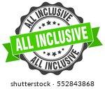 all inclusive. stamp. sticker.... | Shutterstock .eps vector #552843868