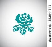 rose icon vector. | Shutterstock .eps vector #552844846