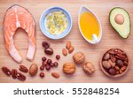 selection food sources of omega ... | Shutterstock . vector #552848254