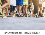 marathon runners crowd people... | Shutterstock . vector #552848314
