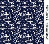 seamless blue japanese...   Shutterstock .eps vector #552849259