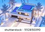 3d rendering of modern cozy... | Shutterstock . vector #552850390