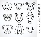 dogs set. vector  | Shutterstock .eps vector #552853219