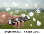 internet of things agriculture... | Shutterstock . vector #552853348