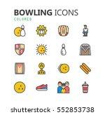 simple modern set of bowling... | Shutterstock .eps vector #552853738