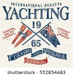 classic and vintage sailing  ... | Shutterstock .eps vector #552854683