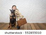 Doberman And Little Girl