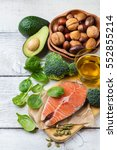 selection of healthy fat... | Shutterstock . vector #552855214