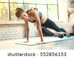 Asian Women Exercise Indoor At...
