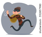 thief escapes loot run... | Shutterstock .eps vector #552857980