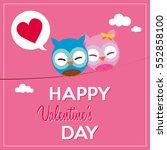 happy valentine's day  sweet... | Shutterstock .eps vector #552858100