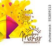 celebrate makar sankranti... | Shutterstock .eps vector #552859213