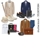 vector male fashion accessories ... | Shutterstock .eps vector #552859384