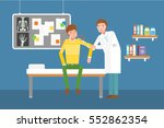 doctor examining the arm of a... | Shutterstock .eps vector #552862354