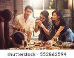 group of friends taking... | Shutterstock . vector #552862594