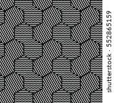black and white pattern... | Shutterstock .eps vector #552865159