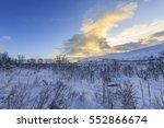 winter landscape in svandalen... | Shutterstock . vector #552866674