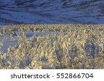 winter landscape in svandalen... | Shutterstock . vector #552866704