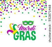 bright abstract dot mardi gras... | Shutterstock .eps vector #552871468