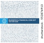 business and finance icon set... | Shutterstock .eps vector #552876913