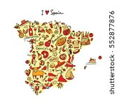 Spain Map Made From Design...
