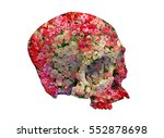 Skull With Roses In Double...