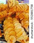 crispy salty fried tasty potato ... | Shutterstock . vector #552881758