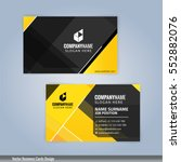 yellow and black modern... | Shutterstock .eps vector #552882076