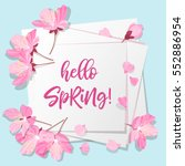 spring is coming lettering.... | Shutterstock .eps vector #552886954