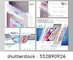 social media posts set.... | Shutterstock .eps vector #552890926
