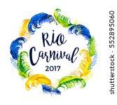 rio carnival. lettering design... | Shutterstock .eps vector #552895060
