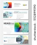social media and email headers... | Shutterstock .eps vector #552899590